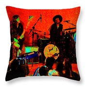 Rrb #50 Crop 2 Enhanced In Cosmicolors Throw Pillow