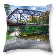 Rt 106 Bridge Throw Pillow