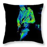 Rt #17 Crop 2 Enhanced In Cosmicolors Throw Pillow