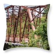 Rt 66 Bridge In Oklahoma Throw Pillow