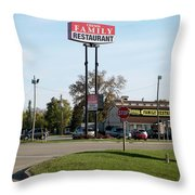 Rt 66 Chenoa Illinois Throw Pillow
