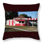 Rt 66 Dwight Il Food Stop Throw Pillow