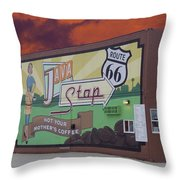 Rt 66 Dwight Il Java Stop Throw Pillow