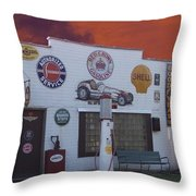 Rt 66 Dwight Il Roadside Attraction Throw Pillow