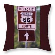 Rt 66 Signage Throw Pillow