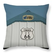Rt 66 Towanda Plague Throw Pillow