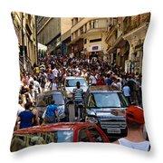 Rua 25 De Marco - Sao Paulo Throw Pillow