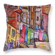 Rua Conticeira Brazil  Throw Pillow