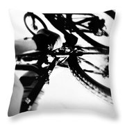 Rubber Side Down Throw Pillow