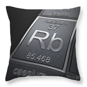 Rubidium Chemical Element Throw Pillow