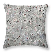 Rubies And Charcoal Throw Pillow