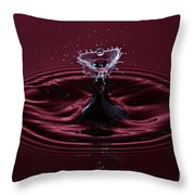 Rubies And Diamonds Throw Pillow by Susan Candelario