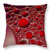 Rubies Throw Pillow