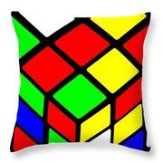 Rubik's Phone Throw Pillow