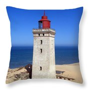 Rubjerg Knude Lighthouse 2 Throw Pillow