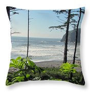 Ruby Beach I Throw Pillow