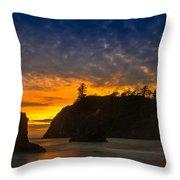 Ruby Beach Olympic National Park Throw Pillow