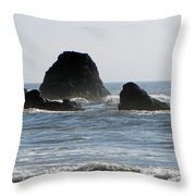 Ruby Beach Sea Stack Throw Pillow