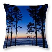 Ruby Beach Sillouette II Throw Pillow
