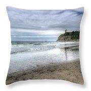 Ruby Beach Summer Throw Pillow