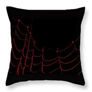 Ruby Dew Throw Pillow