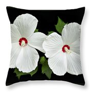 Ruby Dot Hibiscus Throw Pillow