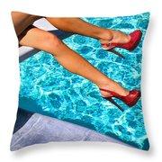 Ruby Heels Not In Kansas Palm Springs Throw Pillow
