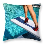 Ruby Heels Ready For Take-off Palm Springs Throw Pillow