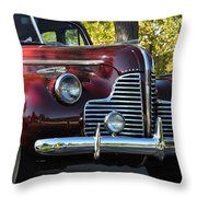 Ruby Red Buick Throw Pillow