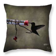 Ruby Silhouette Throw Pillow
