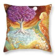 Ruby Tree Spirit Throw Pillow