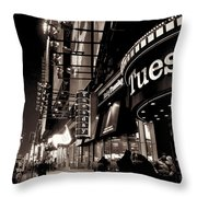 Ruby Tuesday's Times Square - New York At Night Throw Pillow