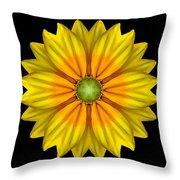 Rudbeckia Prairie Sun I Flower Mandala Throw Pillow