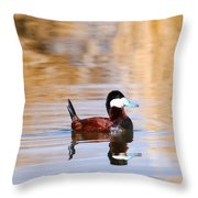 Ruddy Duck  Throw Pillow