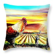 Rude Awakening Throw Pillow by Shana Rowe Jackson