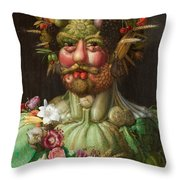 Rudolf II Of Habsburg As Vertumnus Throw Pillow