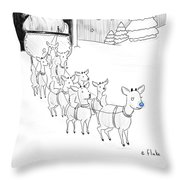 Rudolph I Don't Know If The Boss Is Gonna Like Throw Pillow
