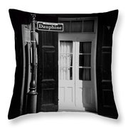 Rue Dauphine French Quarter New Orleans-monochrome Throw Pillow