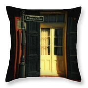 Rue Dauphine New Orleans Throw Pillow