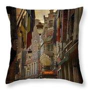 Rue Des Bouchers Throw Pillow