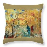 Rue Du Seminaire Throw Pillow