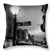 Rue St. Pierre Throw Pillow