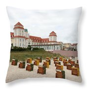 Ruegen Island Beach - Germany Throw Pillow