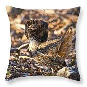Ruffed Grouse Ruff Throw Pillow