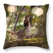 Ruffed Grouse Side Pose Throw Pillow