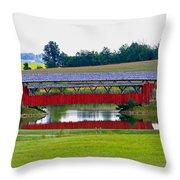 Ruffner Covered Bridge Throw Pillow