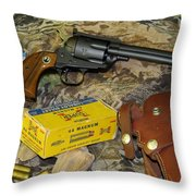 Ruger Blackhawk Still Life Throw Pillow