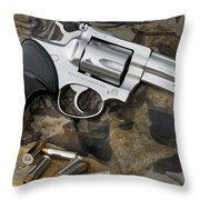 Ruger Security Six Stainless Throw Pillow