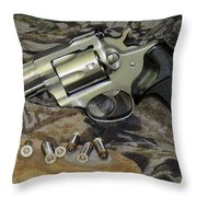 Ruger Security Six Still Life Throw Pillow