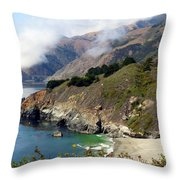 Rugged California Seashore Throw Pillow